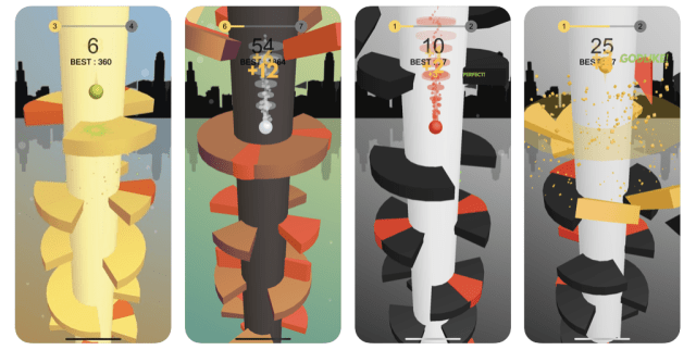 helix jump - gioco per iphone