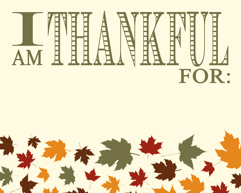 Time To Be Thankful Free Thanksgiving Print