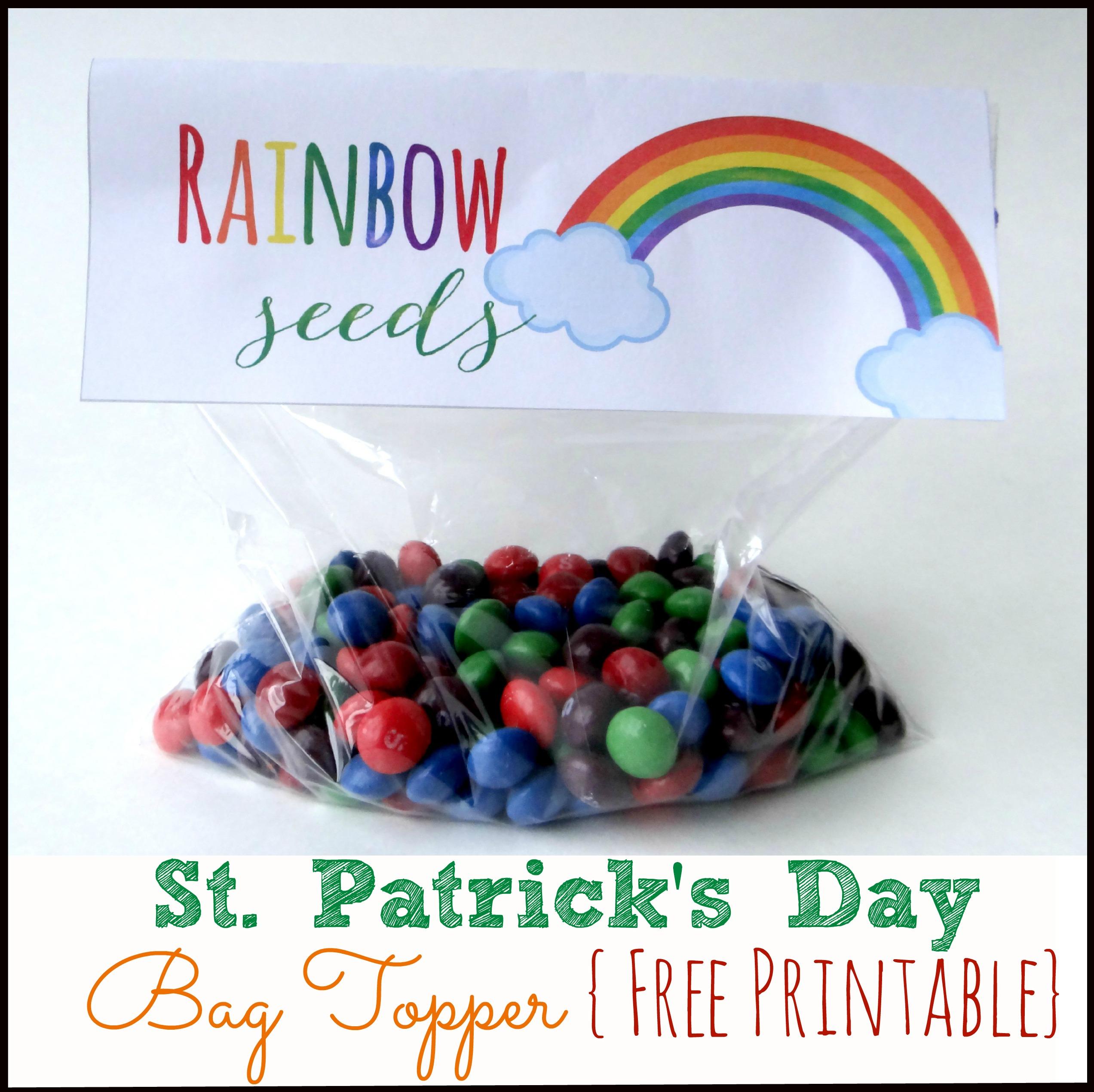 Free Printable St Patrick S Day Bag Topper
