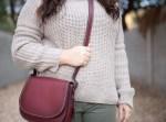 army green pants, chunky knit sweater, coach, saddlebag-3
