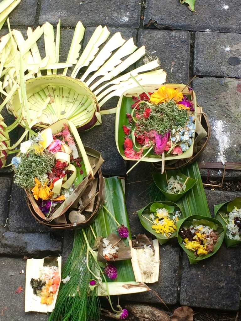 offerings and incense in Legian
