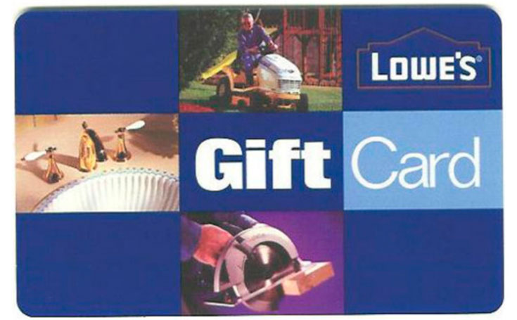 $50 Lowe's Gift Card Giveaway
