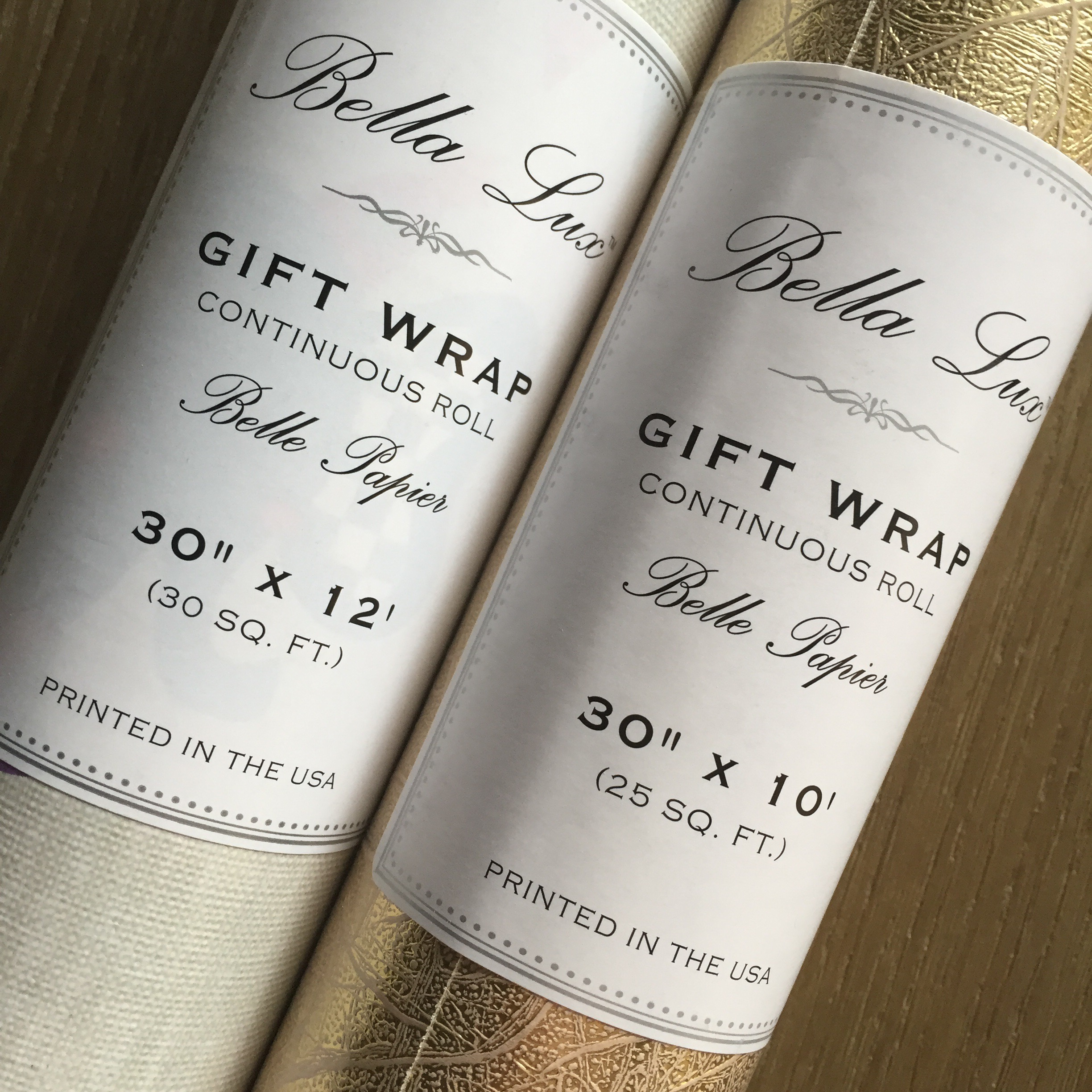 Bella Lux wrapping paper from Homegoods – winning