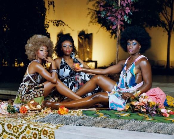 Le déjeuner sur l'herbe: les trois femmes noires, 2010