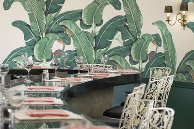 Marvelous Martinique Banana Leaf Wallpaper vs. the Thrill of Brazillance, by Dorothy Draper