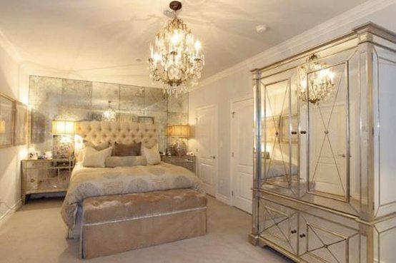 Kim Kardashian Mirrored Glam Bedroom