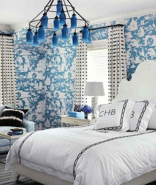 Beautiful Blue and White Bedrooms