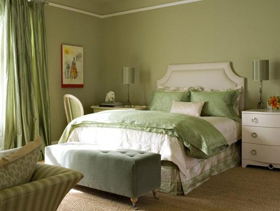 Gorgeous Green And White Bedrooms