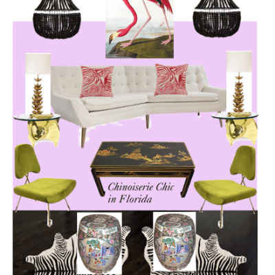Chinoiserie Chic in Florida: The Living Room