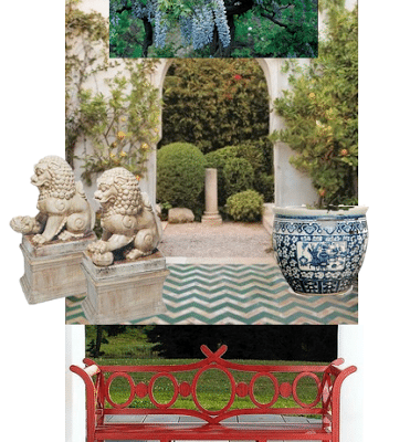 Chinoiserie Chic in Florida: The Courtyard and Front Door