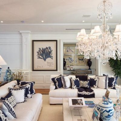 A Blue and White Miami Manse
