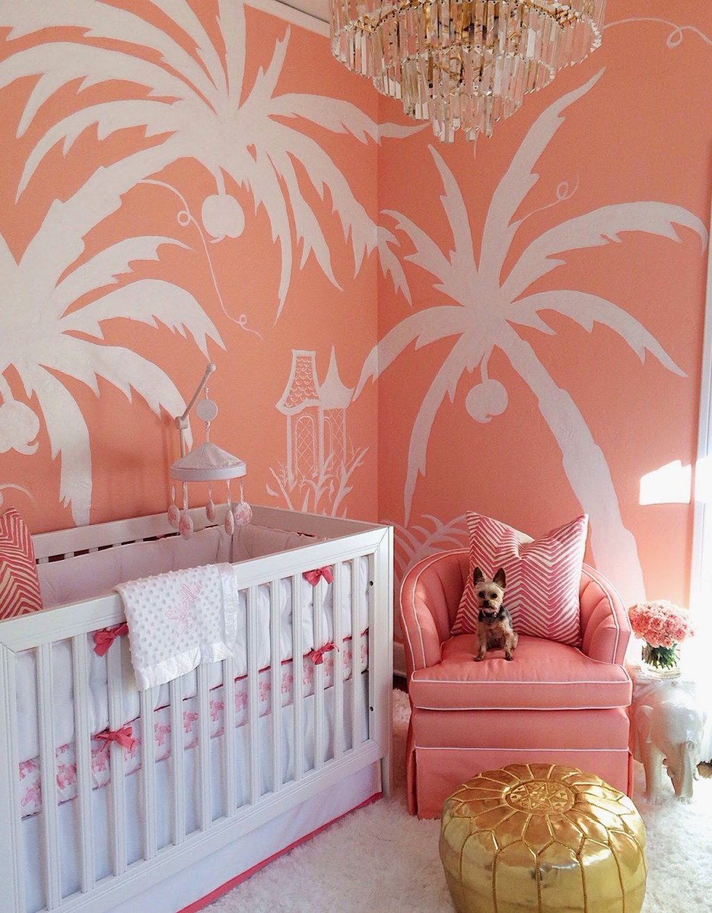 A Nursery For A Palm Beach Princess The Glam Pad