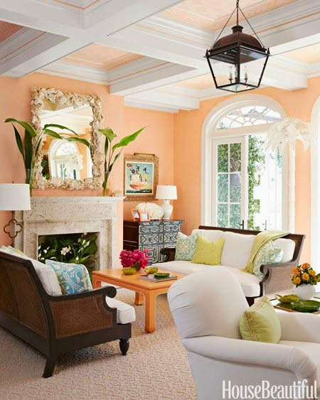 A whimsical palm beach home by kemble interiors the glam pad for Colorful whimsical living room