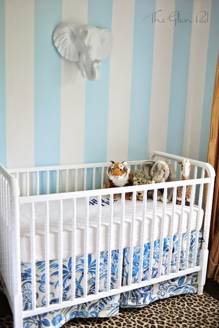 One Room Challenge Palm Beach Regency Nursery Reveal