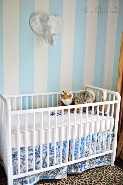 One Room Challenge Palm Beach Regency Nursery Reveal