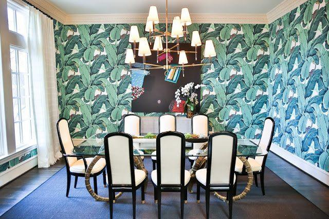 The Original Beverly Hills Hotel Martinique Banana Leaf Wallpaper