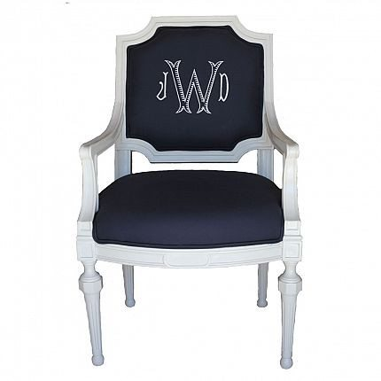 Design Trend Monogrammed Chairs The Glam Pad