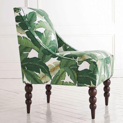 Banana Leaf Upholstered Chair