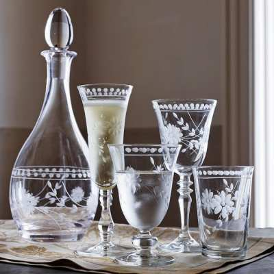 Etched Glassware