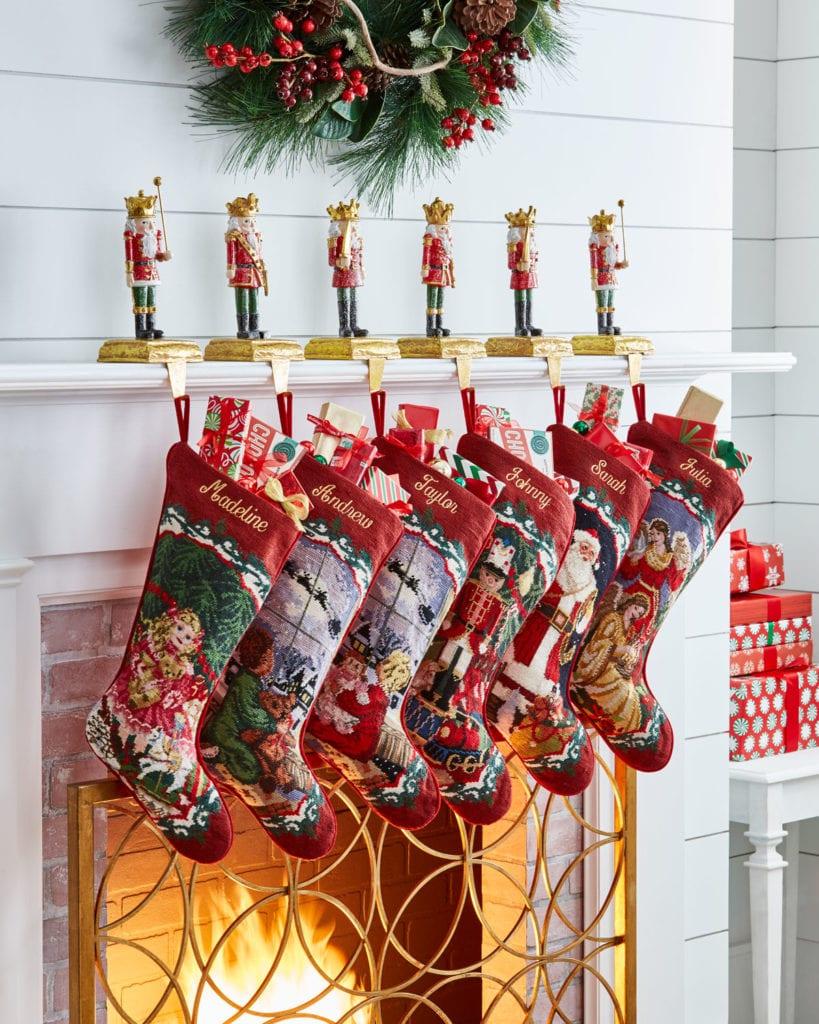 Neiman Marcus Horchow Needlepoint Stockings Nutcracker Holders