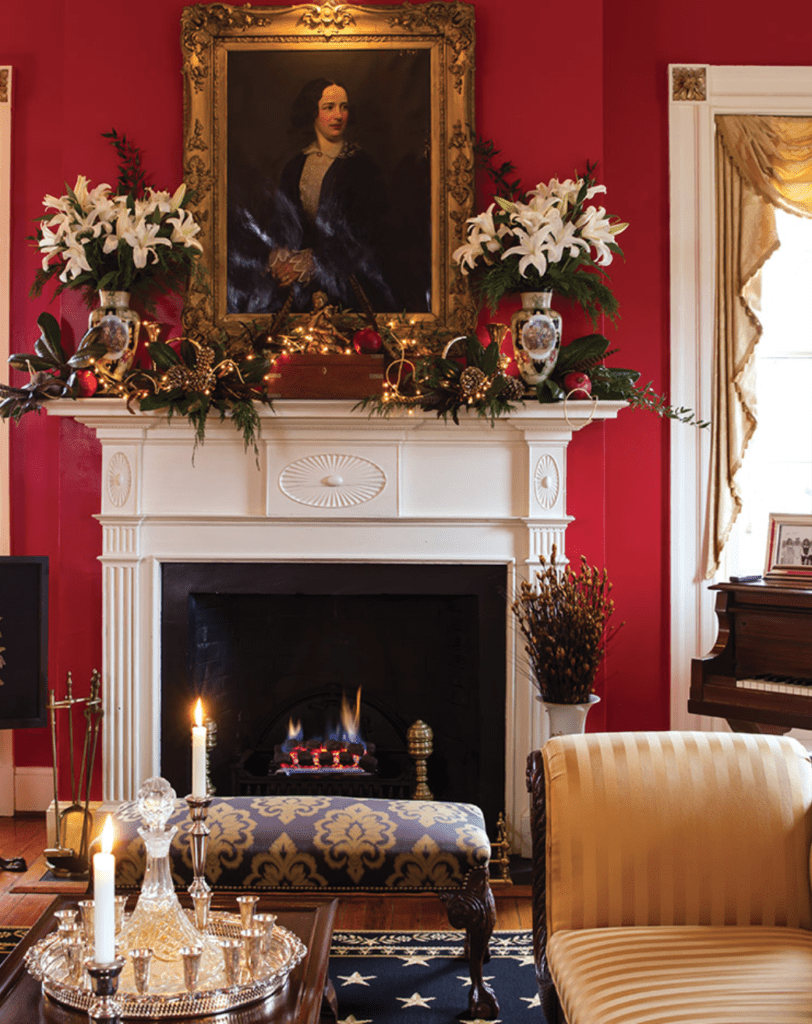 Southern Lady Christmas Magazine Holiday Decor Fireplace Mantel Decorating Ideas Traditional Interior Design The Glam Pad