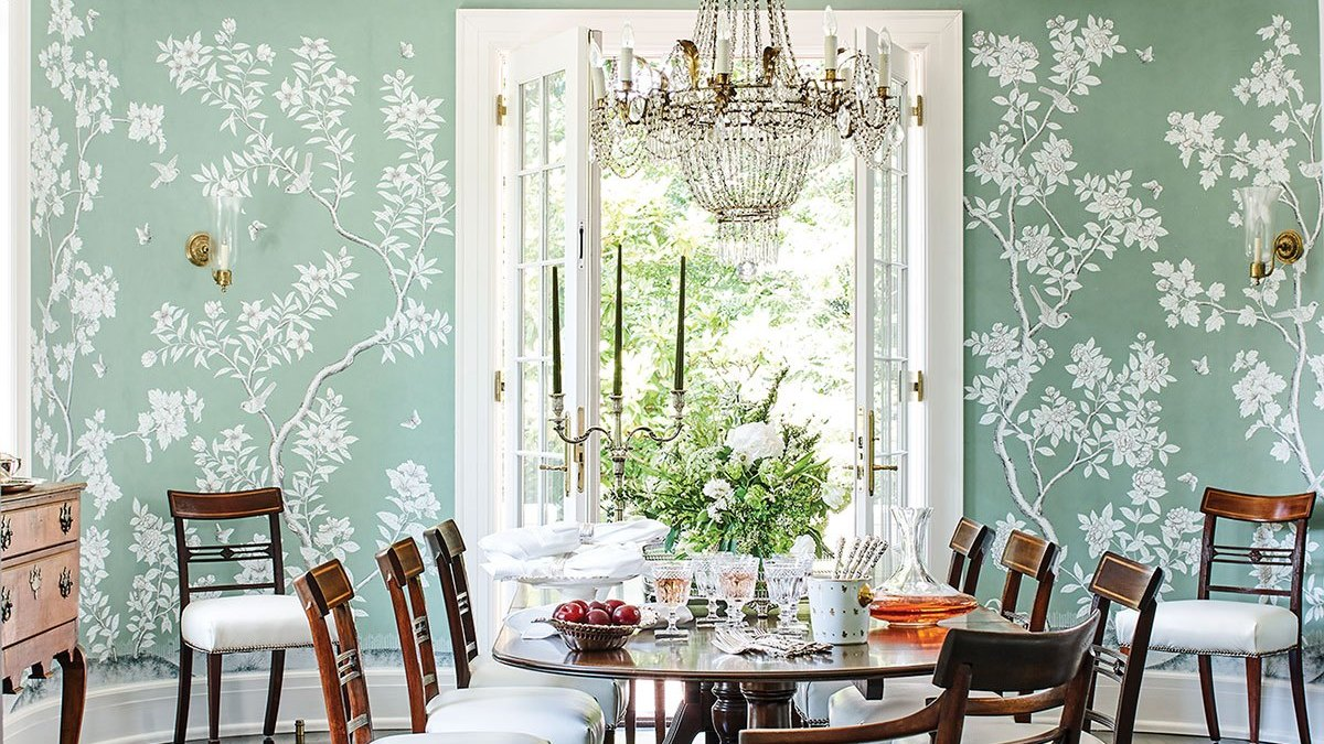 Patti B Flower Magazine Gracie Wallpaper Dining Room The Glam Pad
