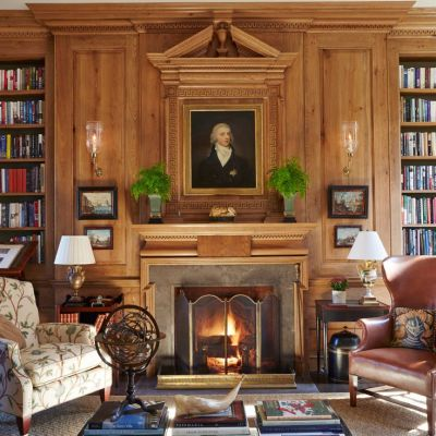 15 Handsome Wood Paneled Libraries + Father's Day Gift Guide
