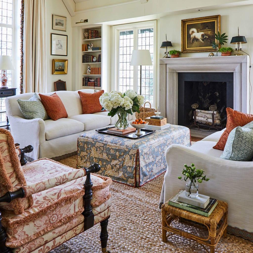 Caroline Gidiere Designs Living Room Dog Art Sisal Rug