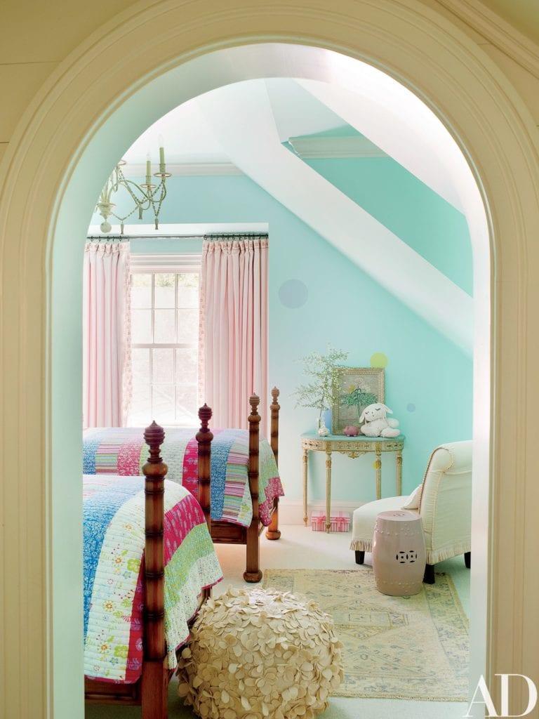 Benjamin Moore Georgian Green girl bedroom painted benjamin moore crystal clear - the glam pad