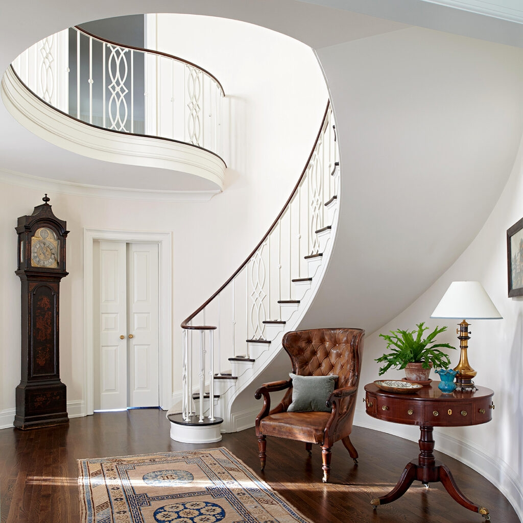 Brockschmidt And Coleman Grandmillennial Spiral Staircase Sweeping | Spiral Staircase For Sale Ebay | Stair Railing | Stair Case | Wrought Iron Spiral | Handrail | Attic Stairs