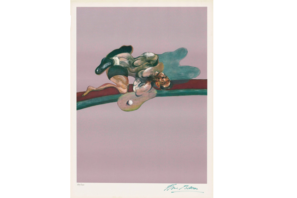 Francis Bacon, Left panel of Triptych (in memory of George Dyer), 1975, lithograph, 75,5cm x 50,5cm