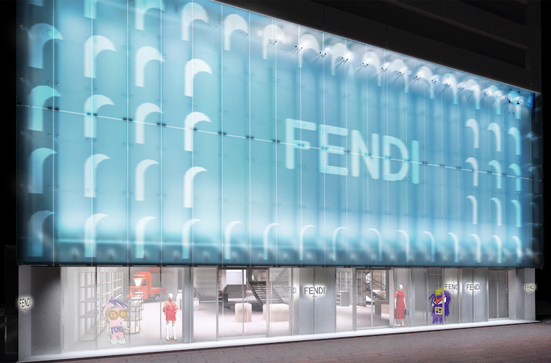 Fendi opens pop-up store in Ginza 04f100ee04e14