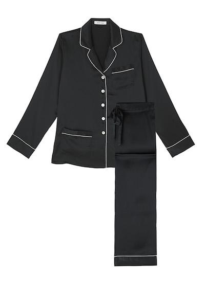 Olivia Von Halle Coco Jet Black pyjama
