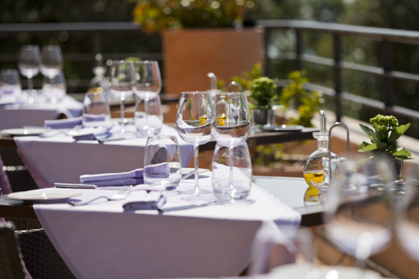 Outdoor dining at the Marimar Hotel and Spa