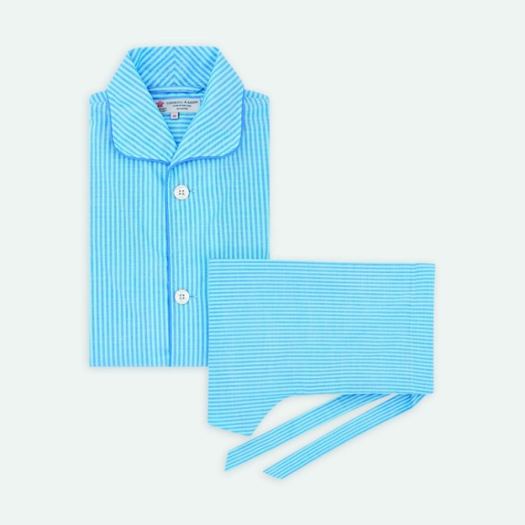 Turnbull & Asser stripe cotton pyjama set
