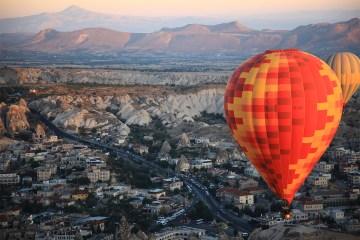 Feature image - Cappadocia travel feature - looking down on Cappadocia landscape