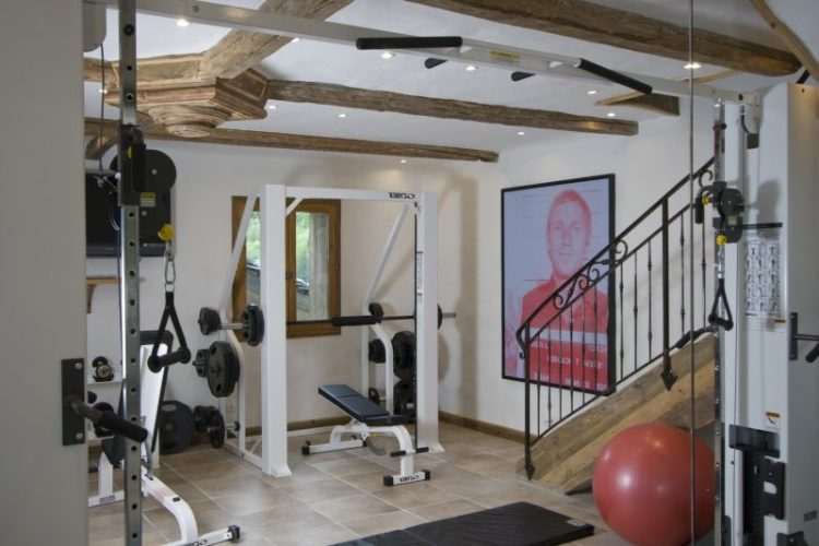 The gym at Chalet Merlo