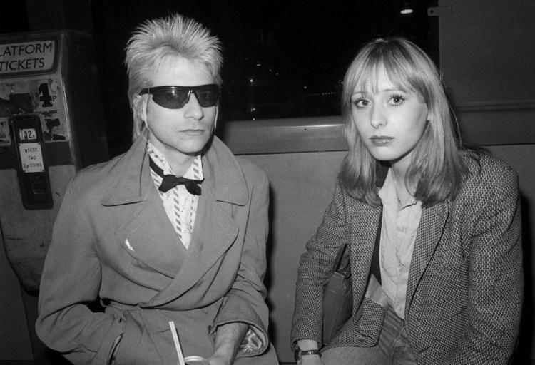 Jerry Nolan with Esther Herskovits at Paddington Station. Photograph: Ray Stevenson
