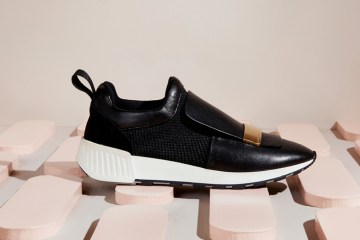he sr1 Running trainer in Black Leather