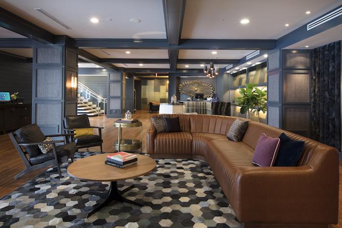 he Hutton Hotel's vast lobby - photo credit Nils Schlebusch