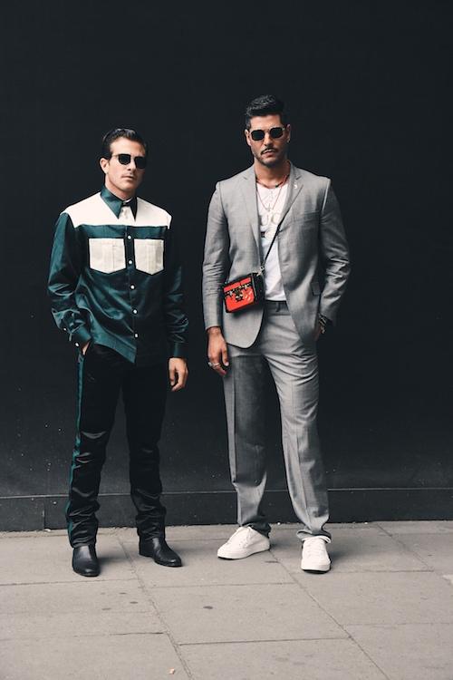 LFWM Street Style - Day 1 - Left : Carlo Sestini - Right : Kadu Dantas