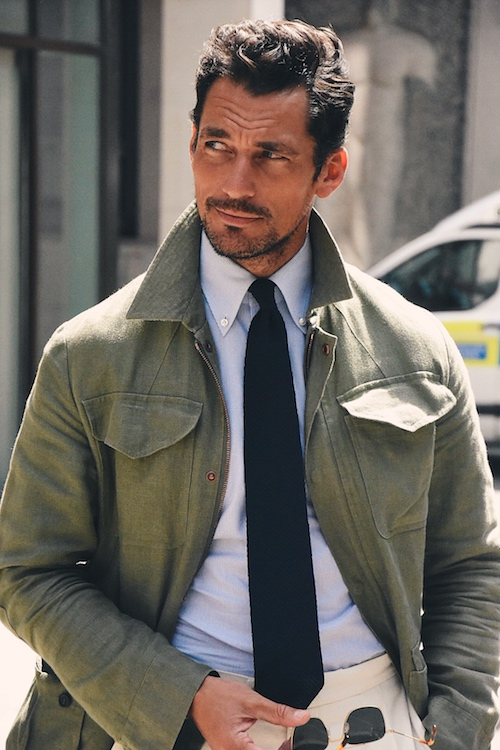 LFWM Street Style - Day 1 - David Gandy