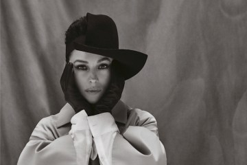 Monica Bellucci- Hat YOHJI YAMAMOTO Gloves STOCKER Jacket LUTZ HUELLE Dress ANDREAS KRONTHALER FOR VIVIENNE WESTWOOD