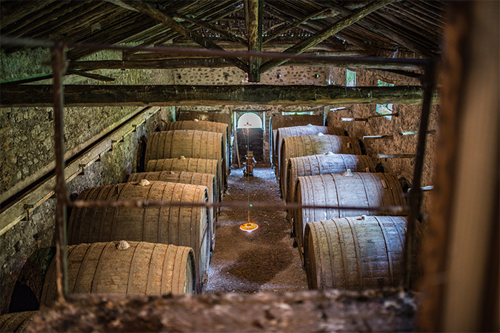 Antique Wine Barrels at A Barunissa Country House on Mount Etna