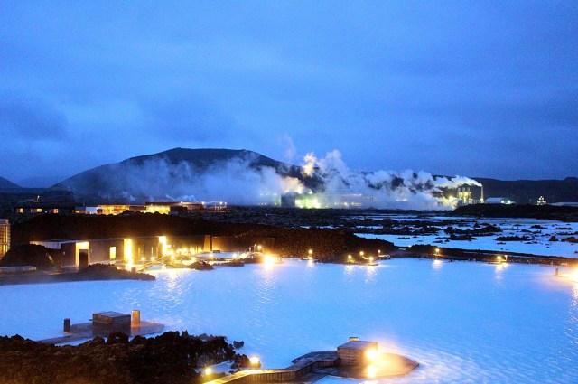 Blue Lagoon by night, Iceland