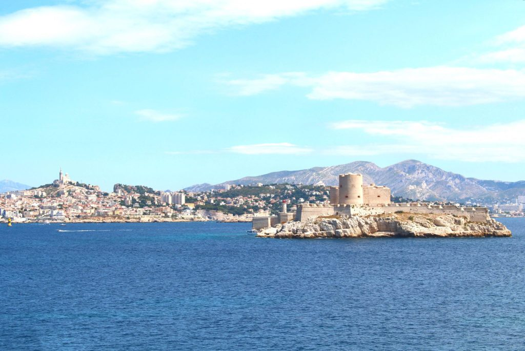 View of Marseille and Chateau d'If
