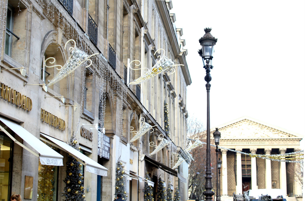 Christmas 2015, Decor on Rue Royale, Christmas in Paris, The Glittering Unknown
