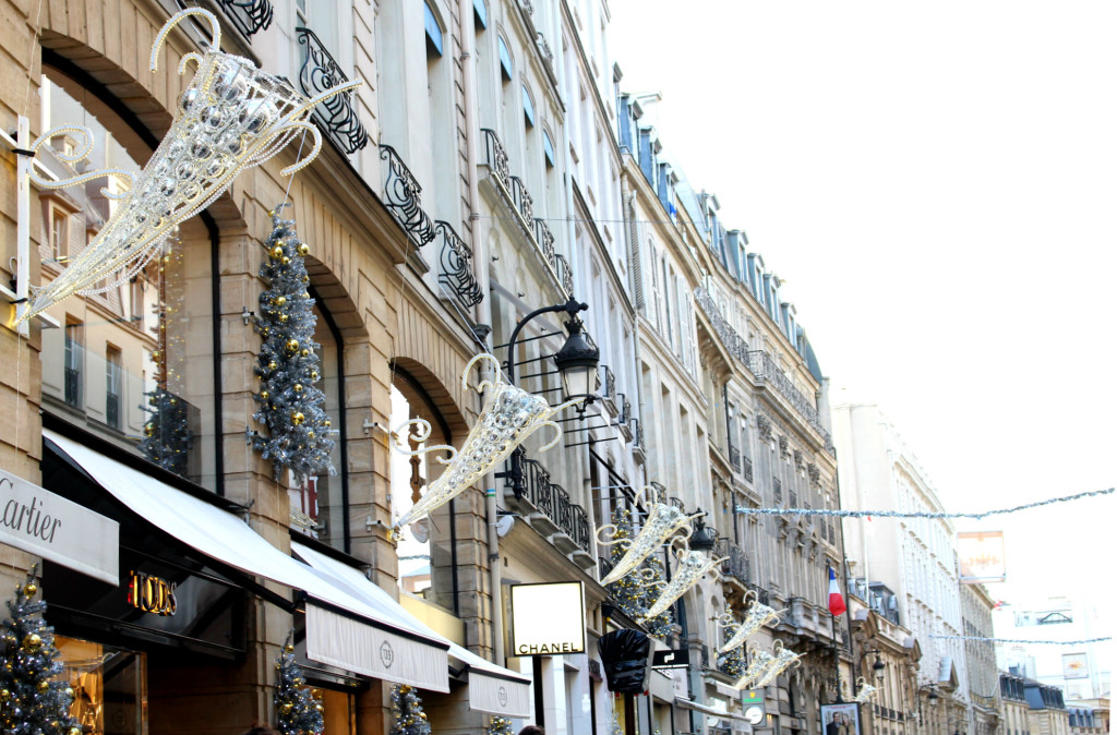 Christmas 2015, Rue Saint-Honore, Christmas in Paris, The Glittering Unknown