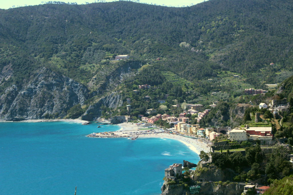 The Glittering Unknown Monterosso al Mare from up high on the Sentiero Azzurro Cinque Terre Italy