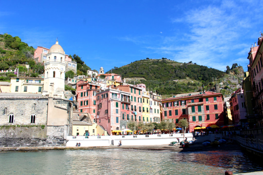 The Glittering Unknown view from the marina Vernazza Cinque Terre Italy